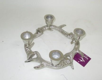adventskranz ast metall 20 cm silber leuchter. Black Bedroom Furniture Sets. Home Design Ideas